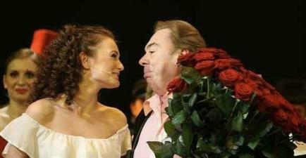 Paulina with Andrew Lloyd Webber